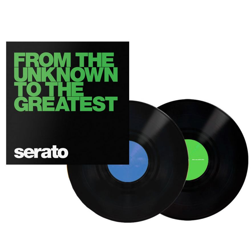 SERATO Black From The Unknown 12 (COPPIA) - VINYL CONTROL PER SERATO