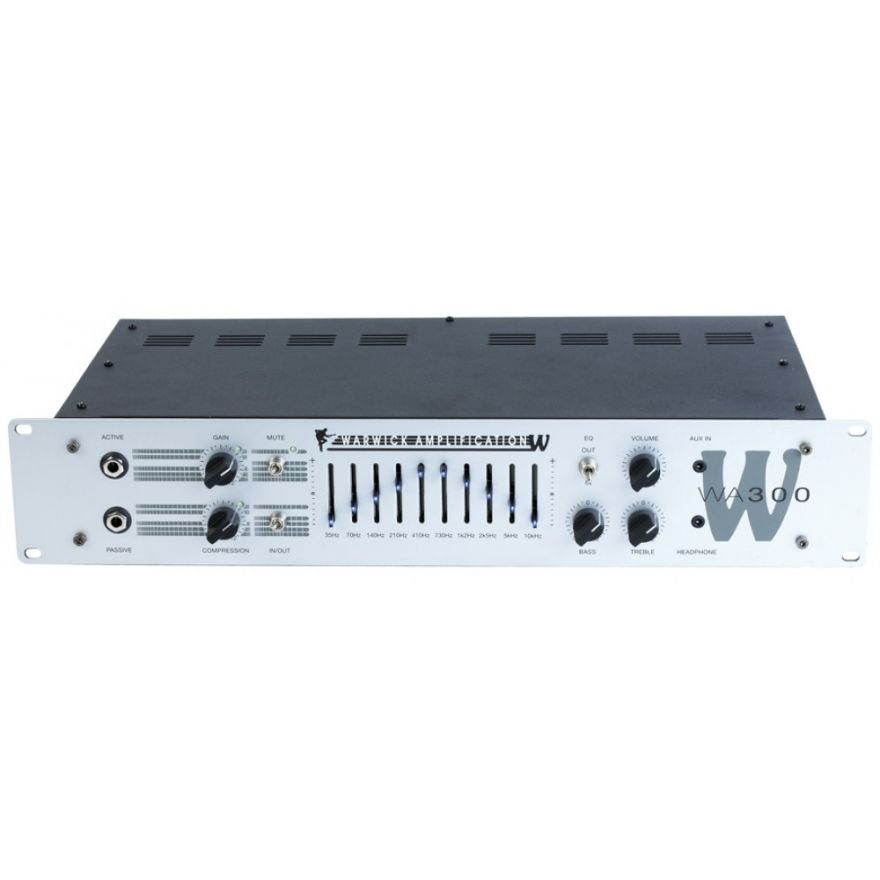 WARWICK W Amp 300 Head - passive and active inputs, 300 Watt,