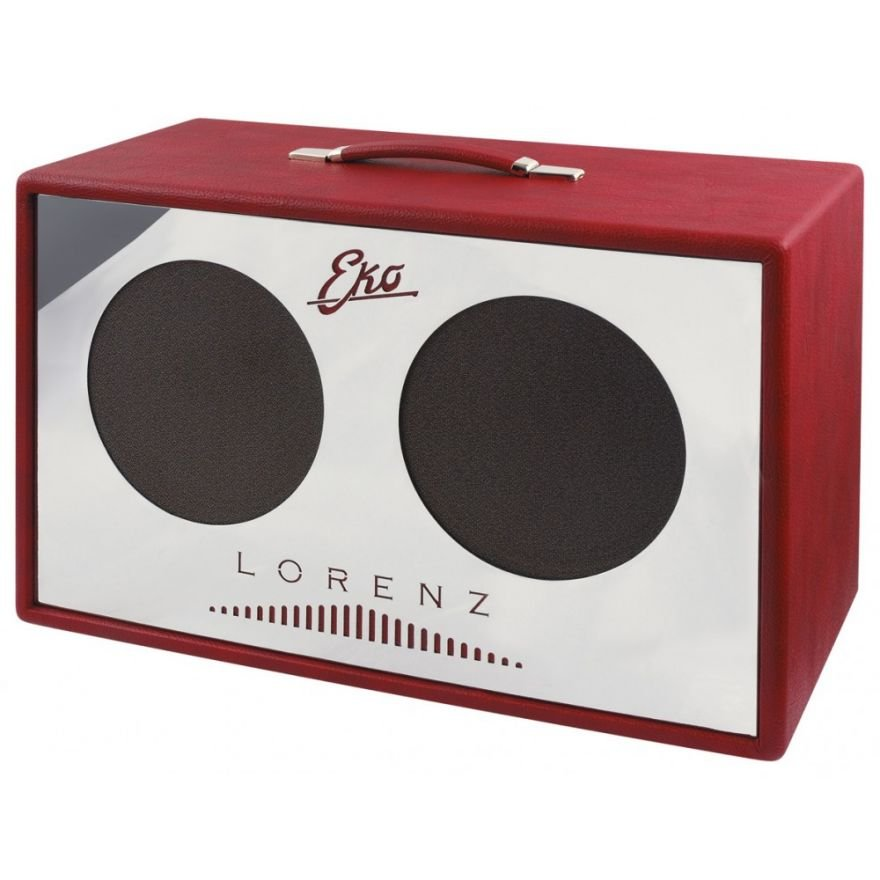 EKO 13-AP-210ORA-RED Cabinet 2 Speaker Orizzontali Chrome Red