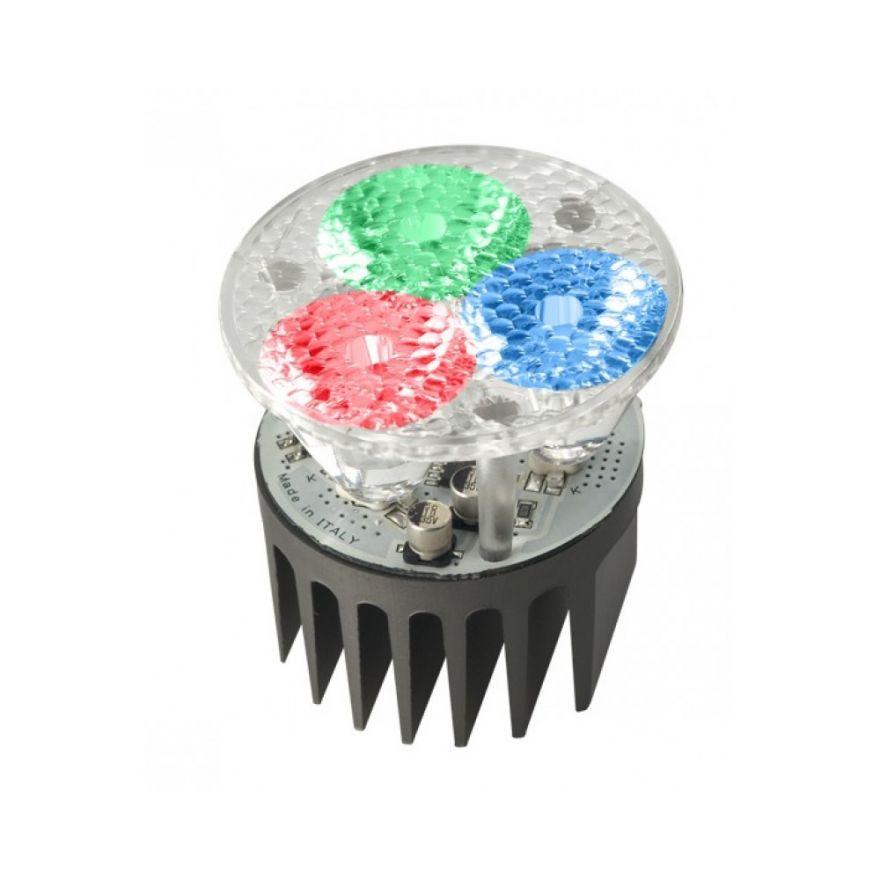 PROEL FARETTO LED RGB 3 LED ALTA POTENZA