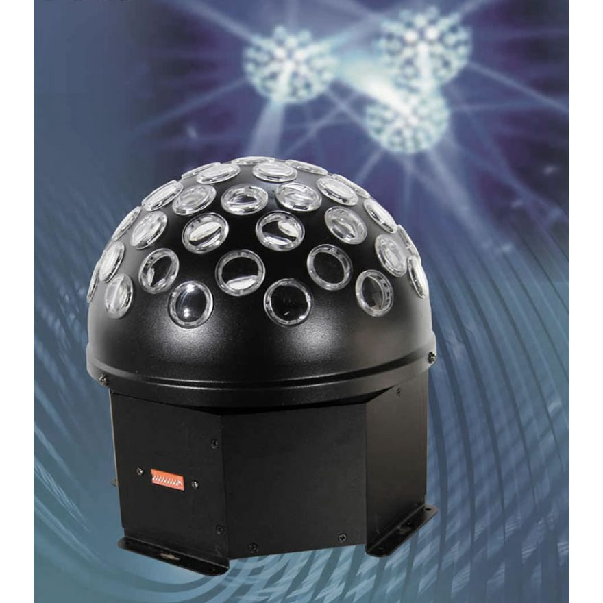 FLASH LED CRYSTAL BALL 9W - SFERA ROTANTE A LED