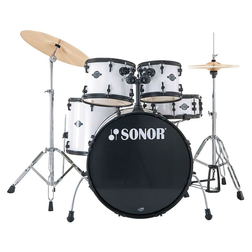 SONOR SMF11 STAGE1 Snow White + PIATTI + SGABELLO