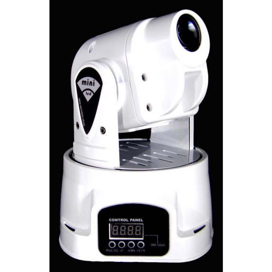 FLASH MOVING HEAD LED 15W MINI White - TESTA MOBILE CON LED RGB