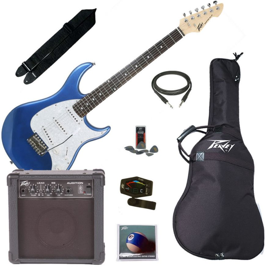 PEAVEY ELECTRIC GUITAR PACK PLUS BLUE - KIT CHITARRA ELETTRICA COMPLET