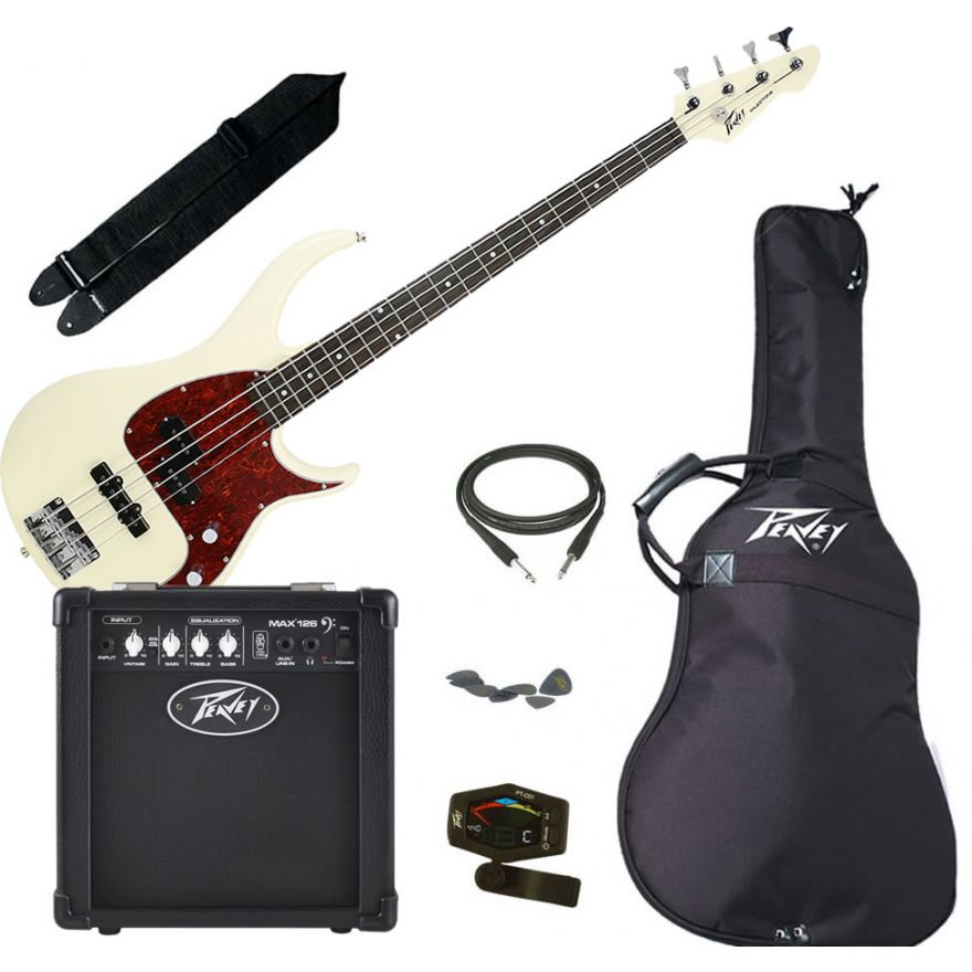 PEAVEY ELECTRIC BASS PACK PLUS IVORY - KIT BASSO ELETTRICO