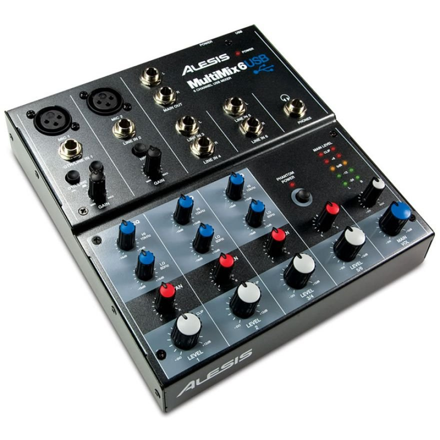 ALESIS MULTIMIX 6USB - MIXER 6 CANALI CON INTERFACCIA USB