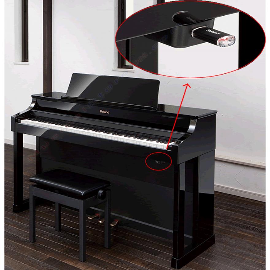 ROLAND HP307PE - PIANOFORTE DIGITALE 88 TASTI NERO LACCATO