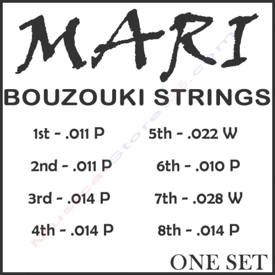 DANIEL MARI ONE SET - MUTA CORDE PER BOUZOUKI 8 CORDE (011-014)
