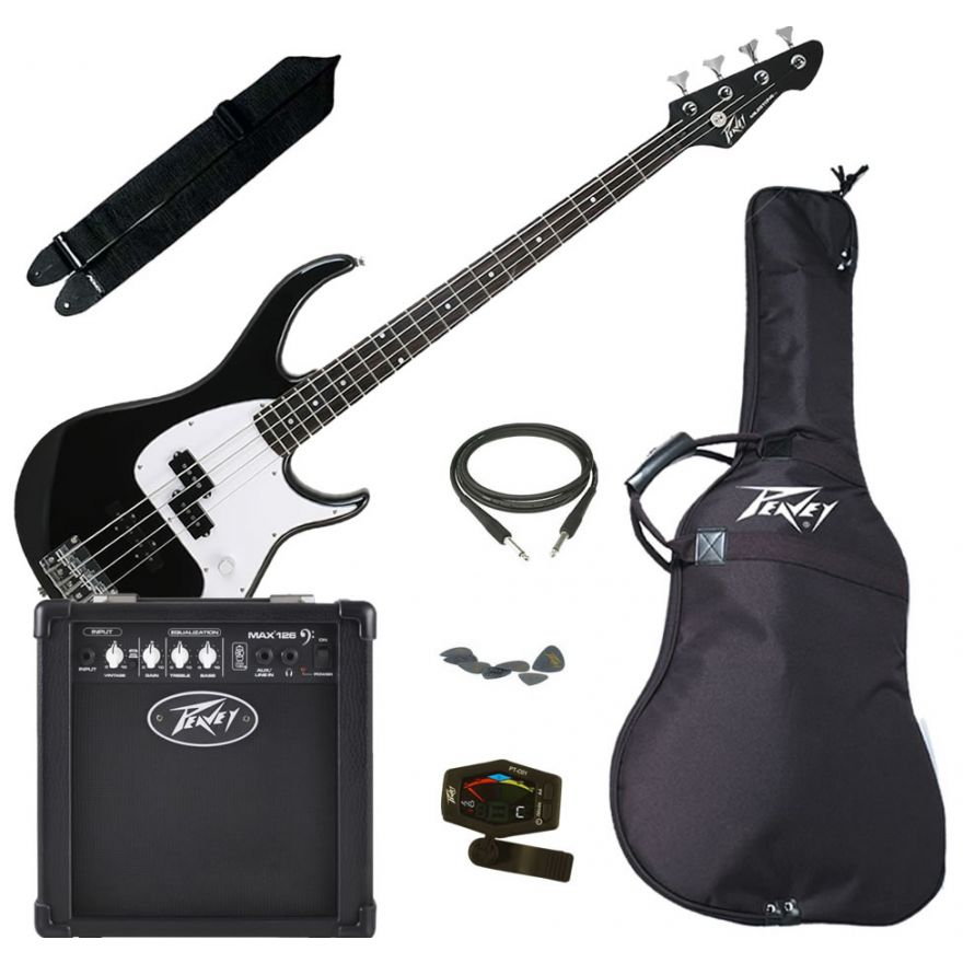 PEAVEY ELECTRIC BASS PACK PLUS BLACK - KIT BASSO ELETTRICO