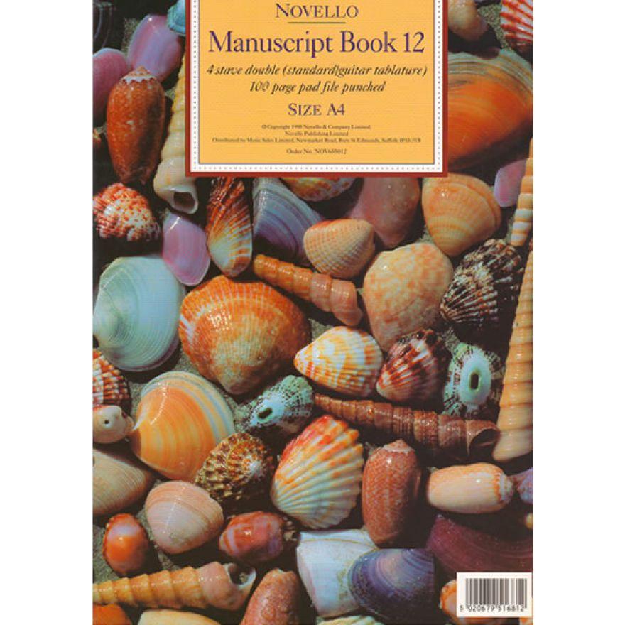 NOVELLO MANUSCRIPT BOOK 12 QUADERNO CON PENTAGRAMMI E TABLATURE