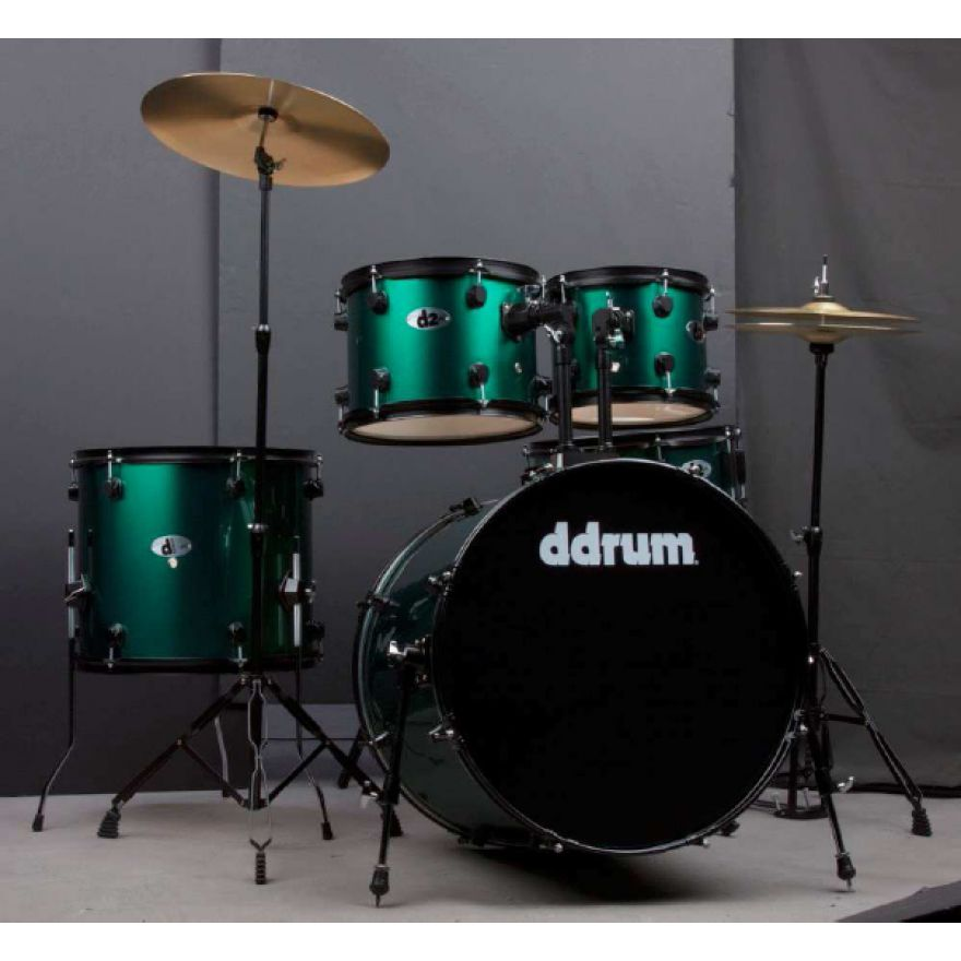 DDrum D2 B GS Green Sparkle - BATTERIA ACUSTICA KIT COMPLETO