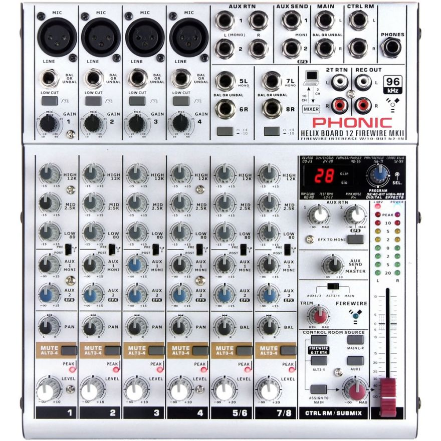 PHONIC HELIXBOARD 12 FIREWIRE MKII - MIXER 6 CH/INTERFACCIA ...