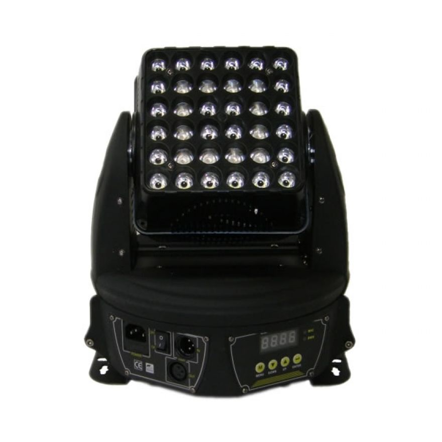 FLASH LED MOVING HEAD DOUBLE 72X3W RGB + WA