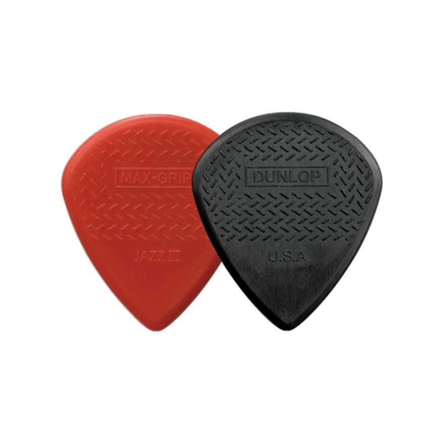 Dunlop 471R3N Max-Grip Jazz III - Red Nylon