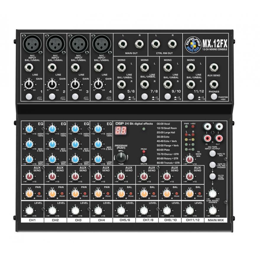 Topp Pro MX12 FX Mixer con effetti