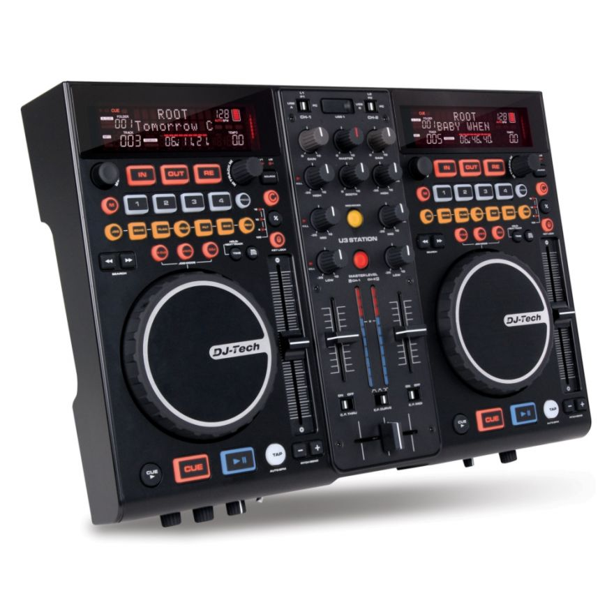 DJ TECH U3 STATION - CONTROLLER E MEDIA PLAYER