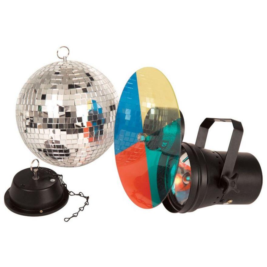 TRONIOS SET 20cm BALL PAR36 COLWh 220V - KIT SFERA + PAR + RUOTA