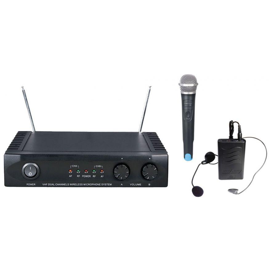KARMA SET 7022PL - DOPPIO RADIOMICROFONO VHF (PALMARE+LAVALIER)