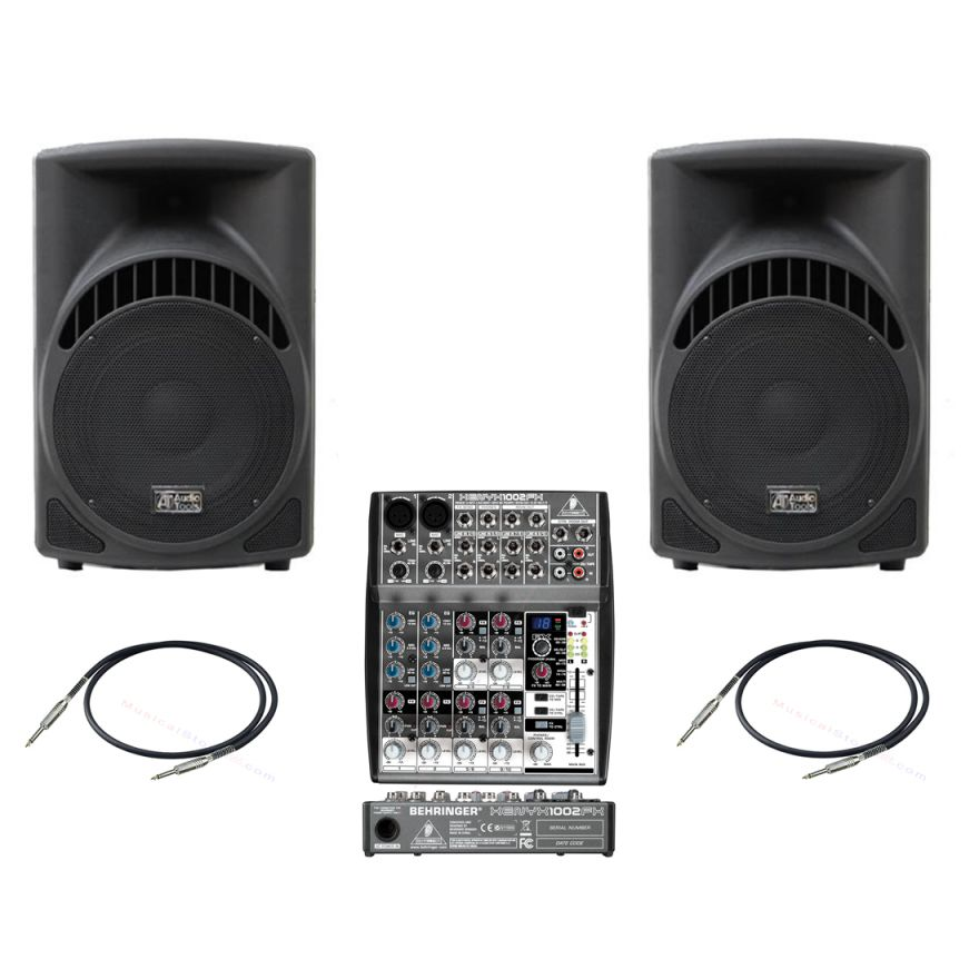 Audio Tools ST210A + Mixer Behringer Xenyx 1002fx + Cavi 3mt - Bundle