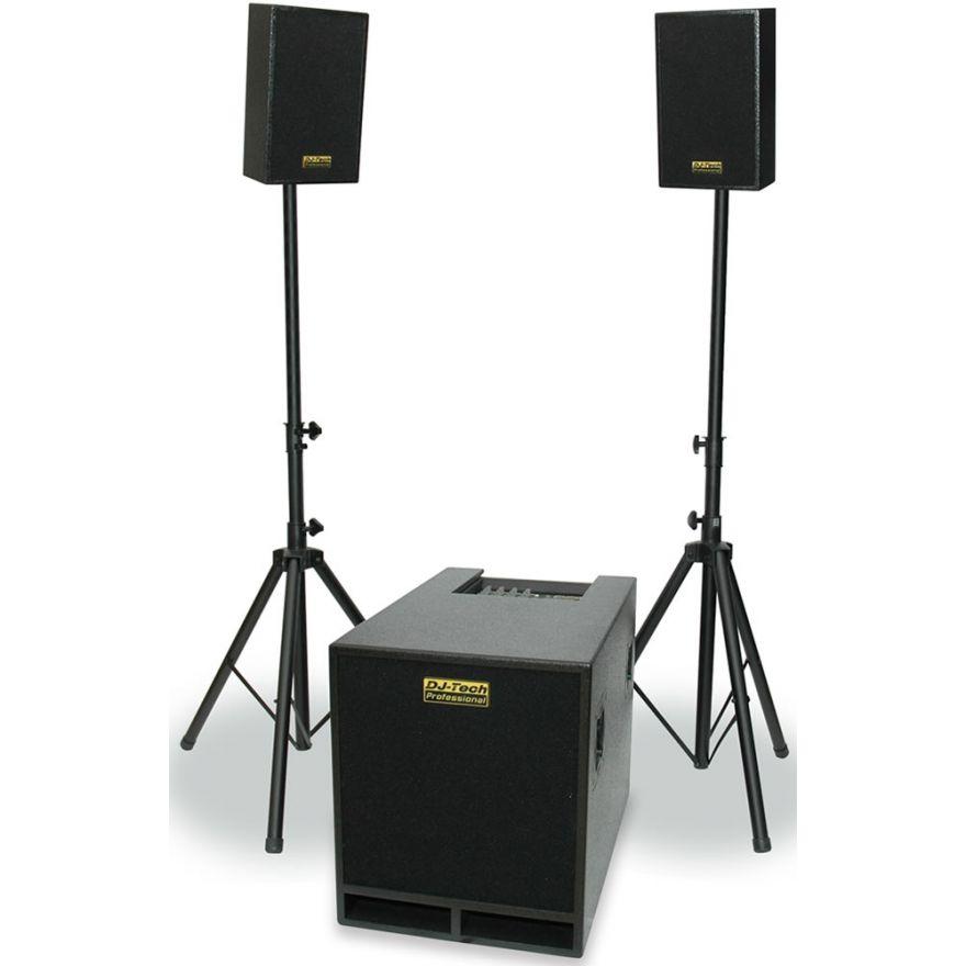DJ TECH CUBE 605 - SISTEMA PA 750W (SUBWOOFER + 2 SATELLITI)