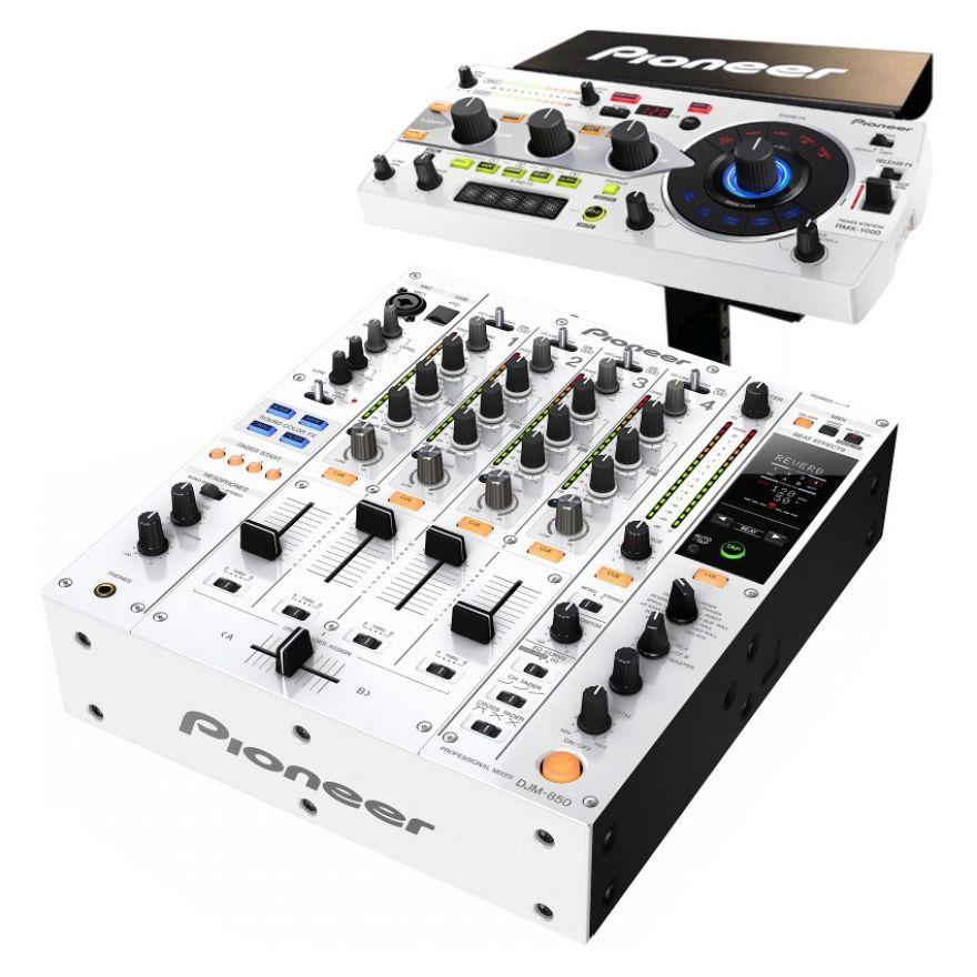 PIONEER DJM850 RMX PACK-W White - DJM850W + RMX1000W + PRODJ RMX STAND