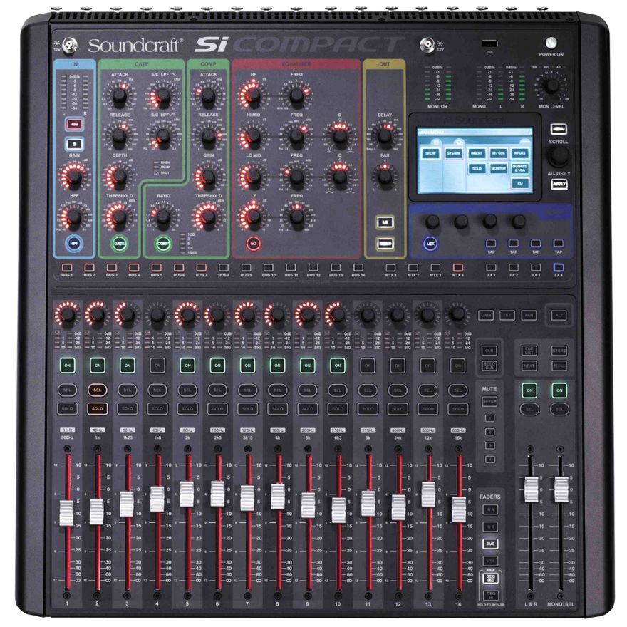 SOUNDCRAFT Si Compact 16 - MIXER DIGITALE 16 IN MONO - 4 STEREO