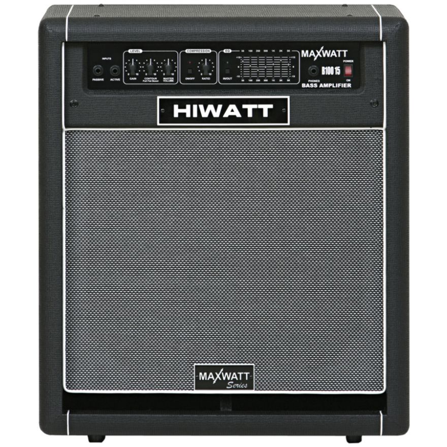 HIWATT B100 15 - AMPLIFICATORE PER BASSO 100W RMS