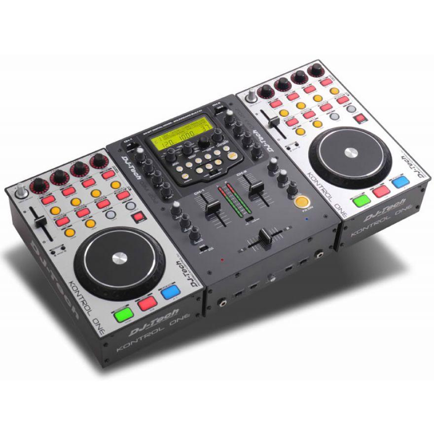 DJ TECH Hybrid 202 Compact USB Player per DJ + Case OMAGGIO!