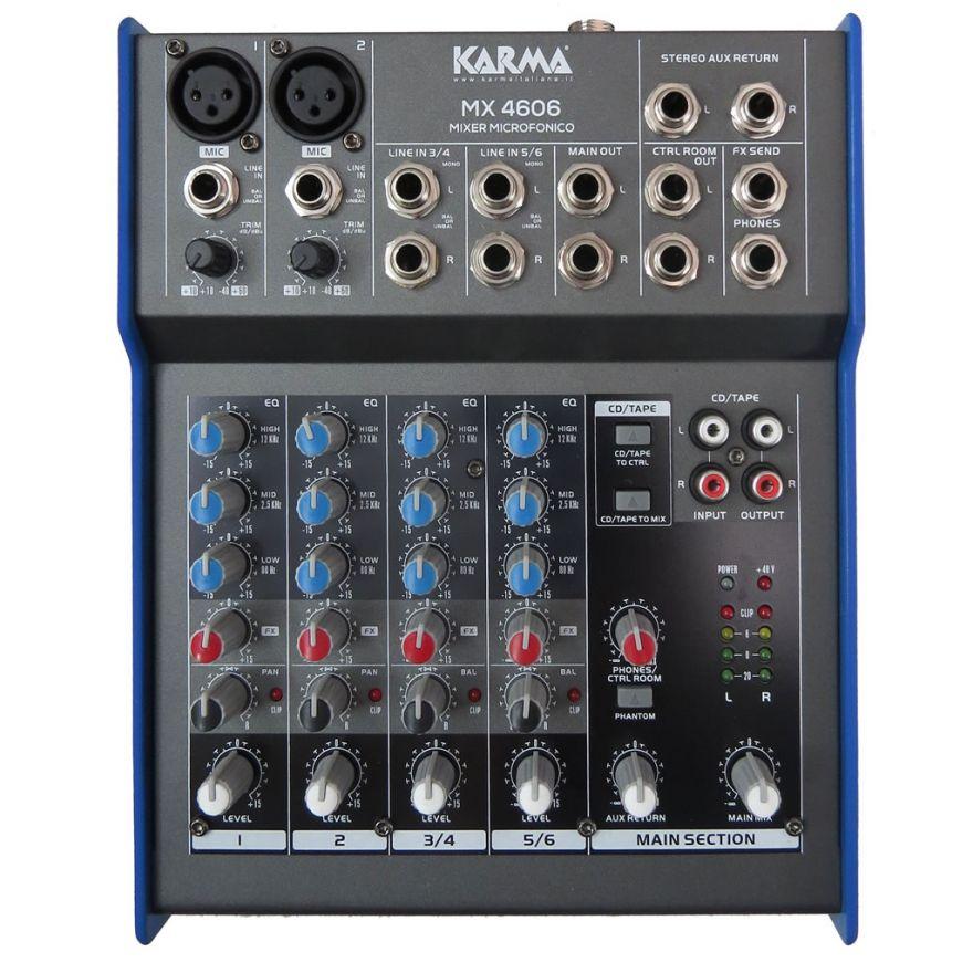 KARMA MX 4606 - Mixer 6 canali