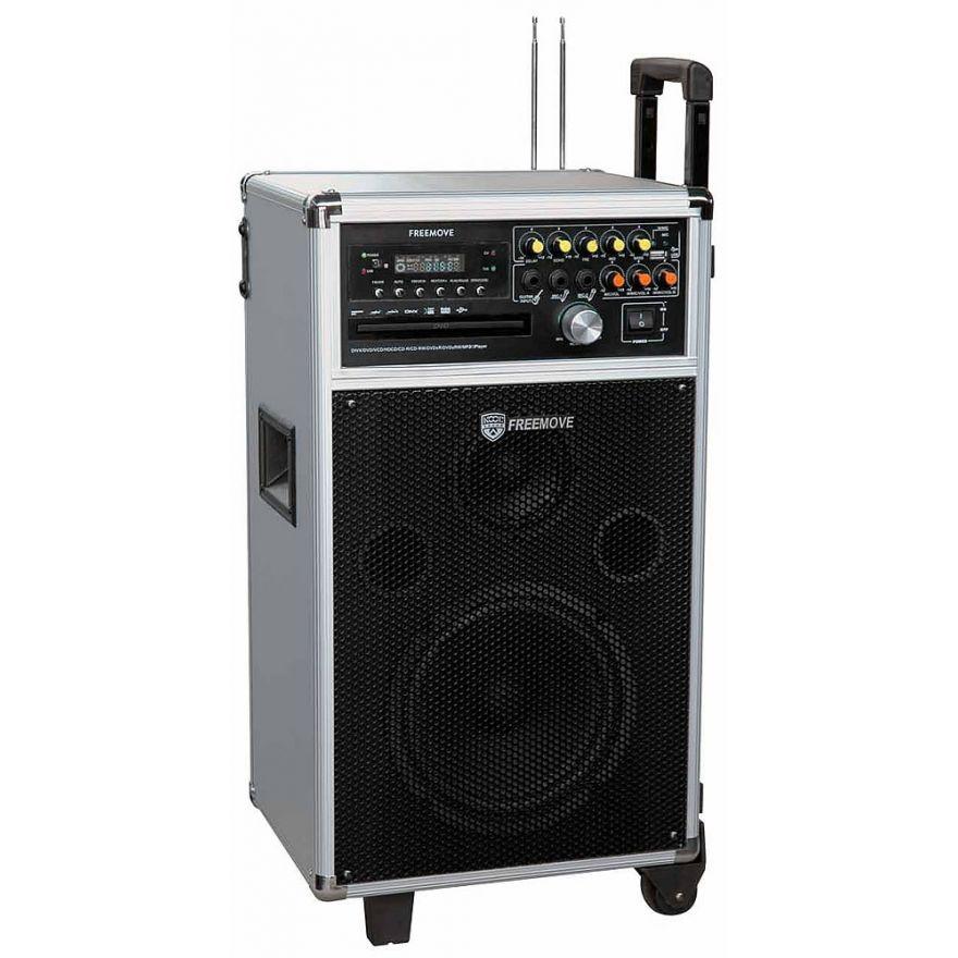 KOOL SOUND FREEMOVE - DIFFUSORE AMPLIFICATO DVD+2 RADIOMICROFONI