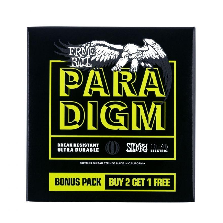 0 Ernie Ball - 3371 Paradigm Regular Slinky 10-46 Gauge 3 Pack