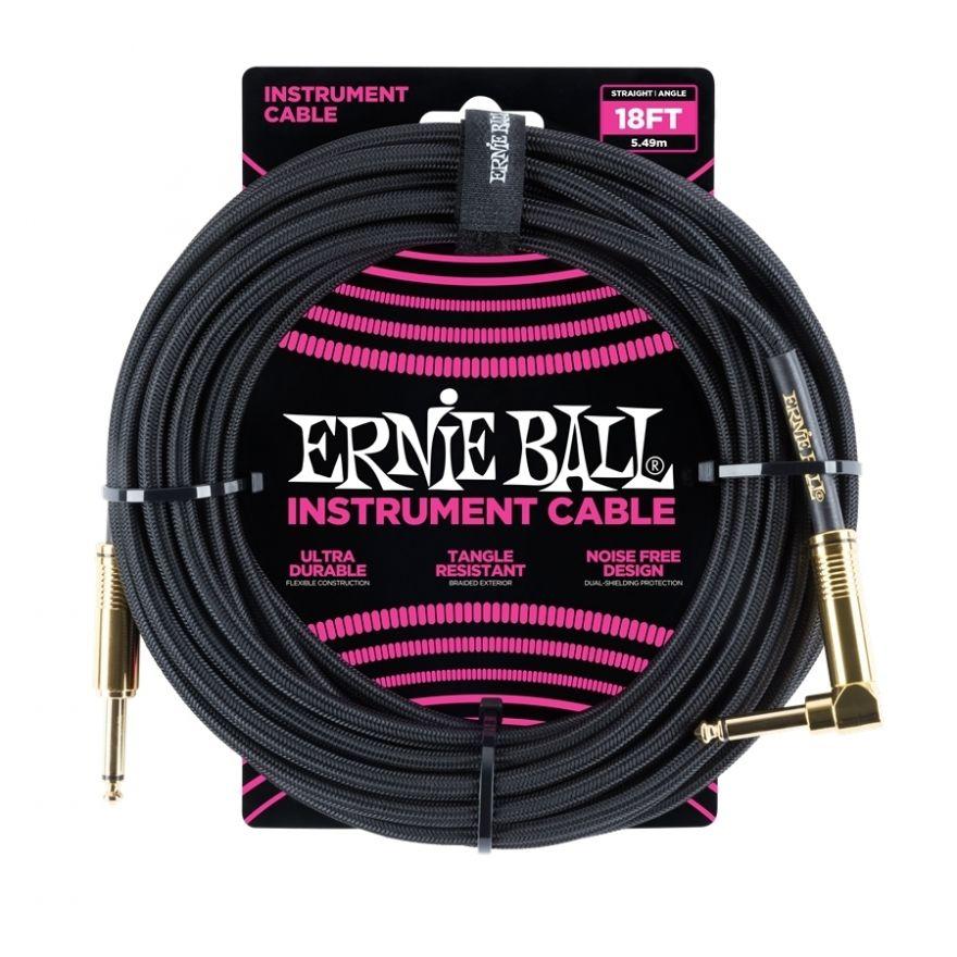 0 Ernie Ball - 6086 Cavo Braided Black Gold Tips 4,6 m