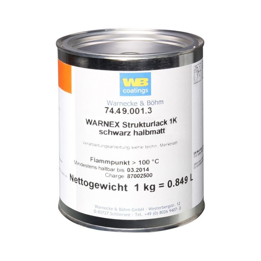 Warnex 0131 - Vernice Strutturata nera 1 kg Warnex