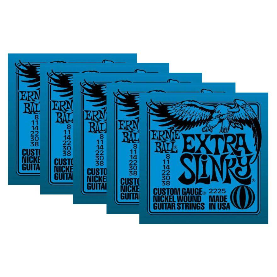 ERNIE BALL 2225 - Set di 5 Mute per Elettrica Super Slinky (08/038)