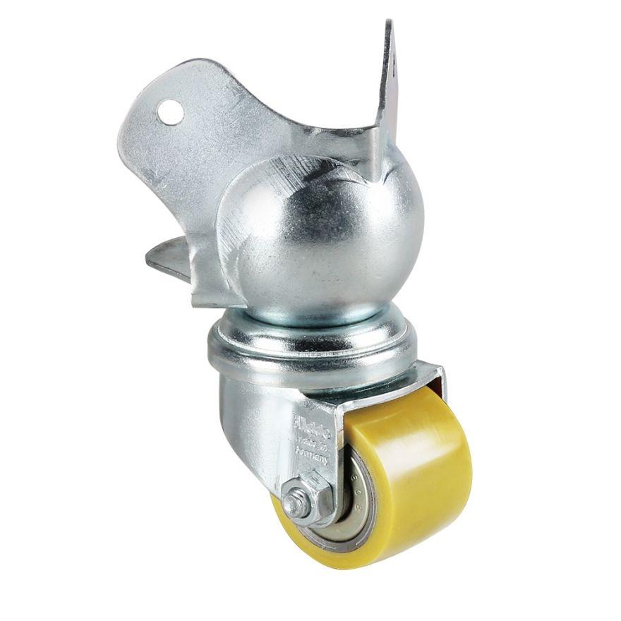 Adam Hall Hardware 37441 - Ruota con montaggio angolare 35 mm su angolo a sfera
