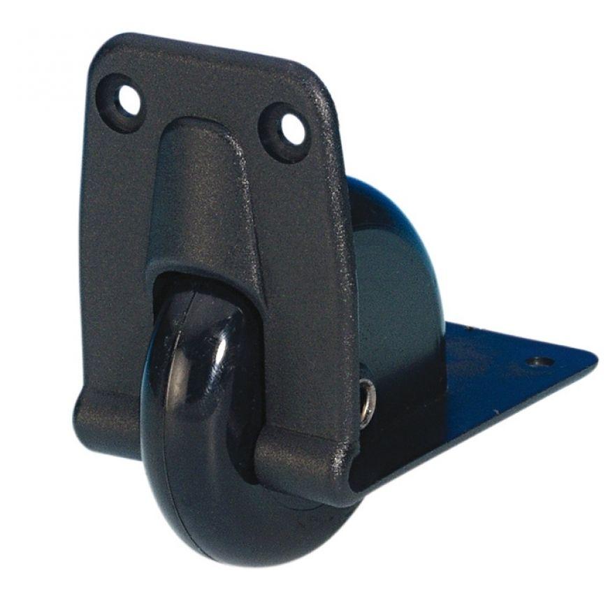 Adam Hall Hardware 3783 - Ruota Angolare da Incasso 58 mm in Alloggiamento in plastica
