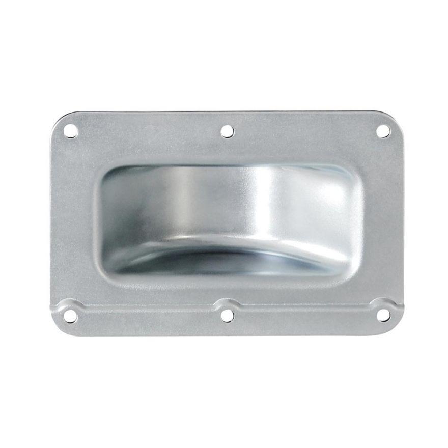 Adam Hall Hardware 38081 - Piatto di montaggio impilabile a gomito in acciaio zincato