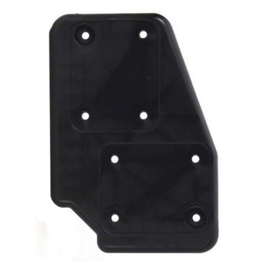 Adam Hall Hardware 38085 R - Piastra per Ruote in poliammide nera, destra