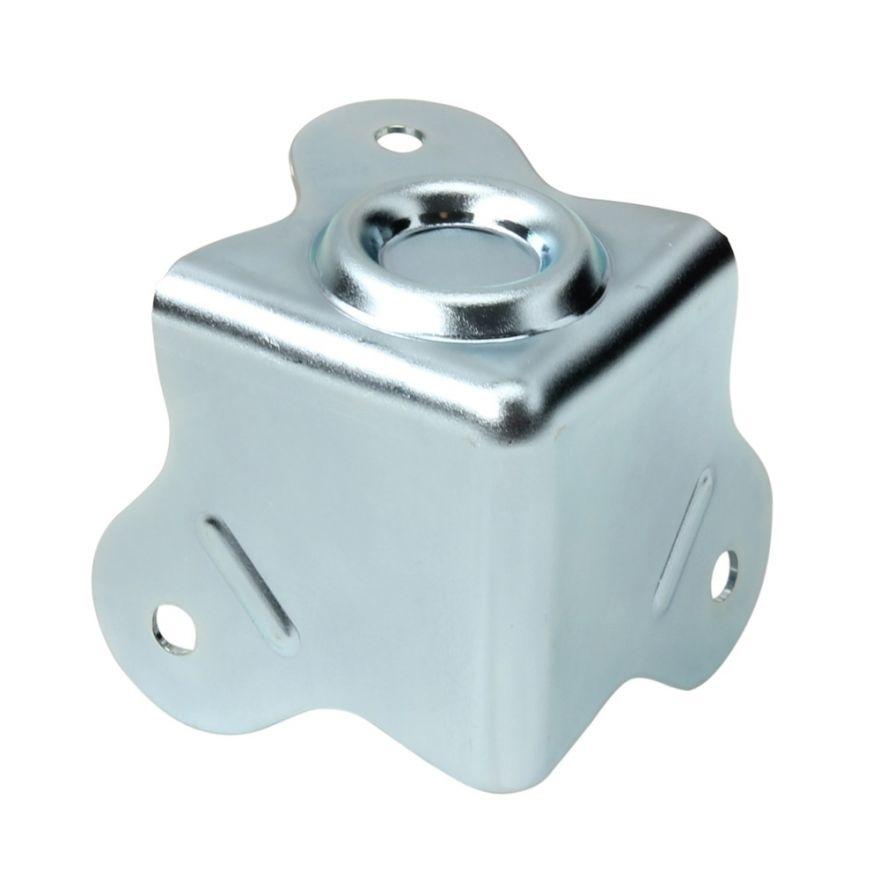 Adam Hall Hardware 4006-05 - Angolo a tre fianchi con pozzetto di impilamento raggio interno da 5 mm