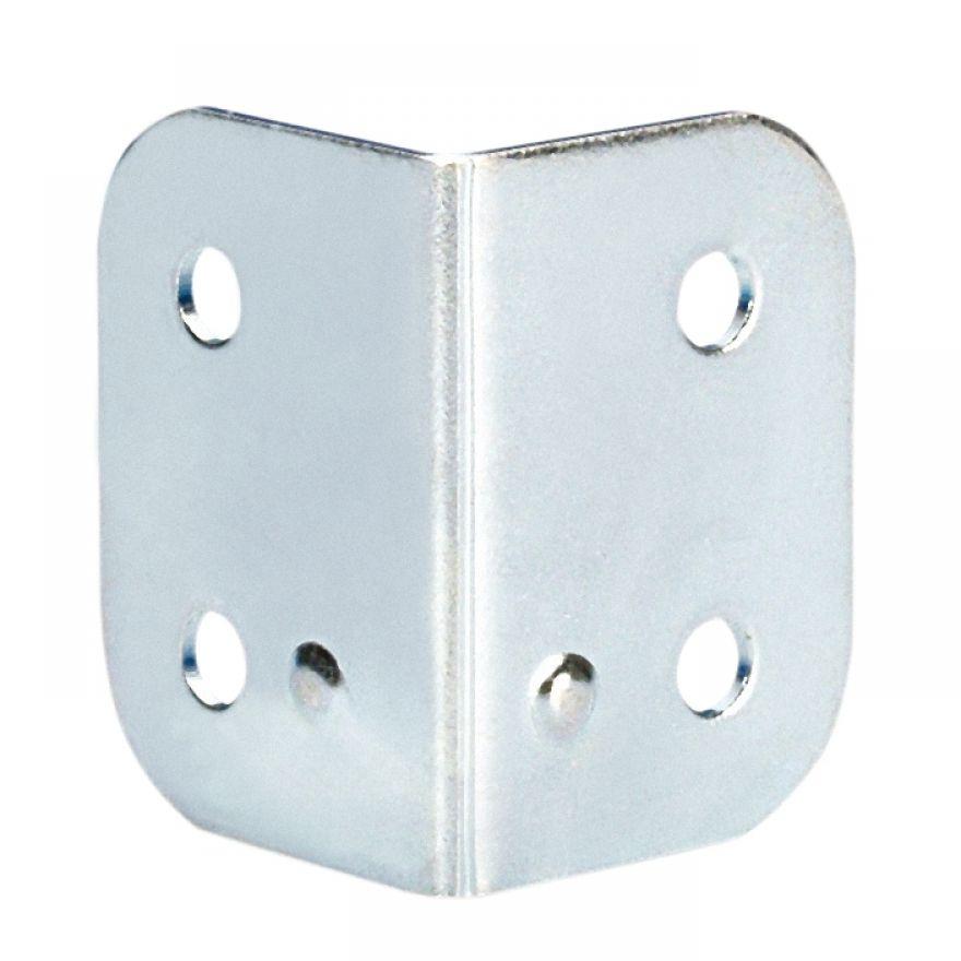 Adam Hall Hardware 4043 - Angolo a L 40 x 28 zincato con Calotta