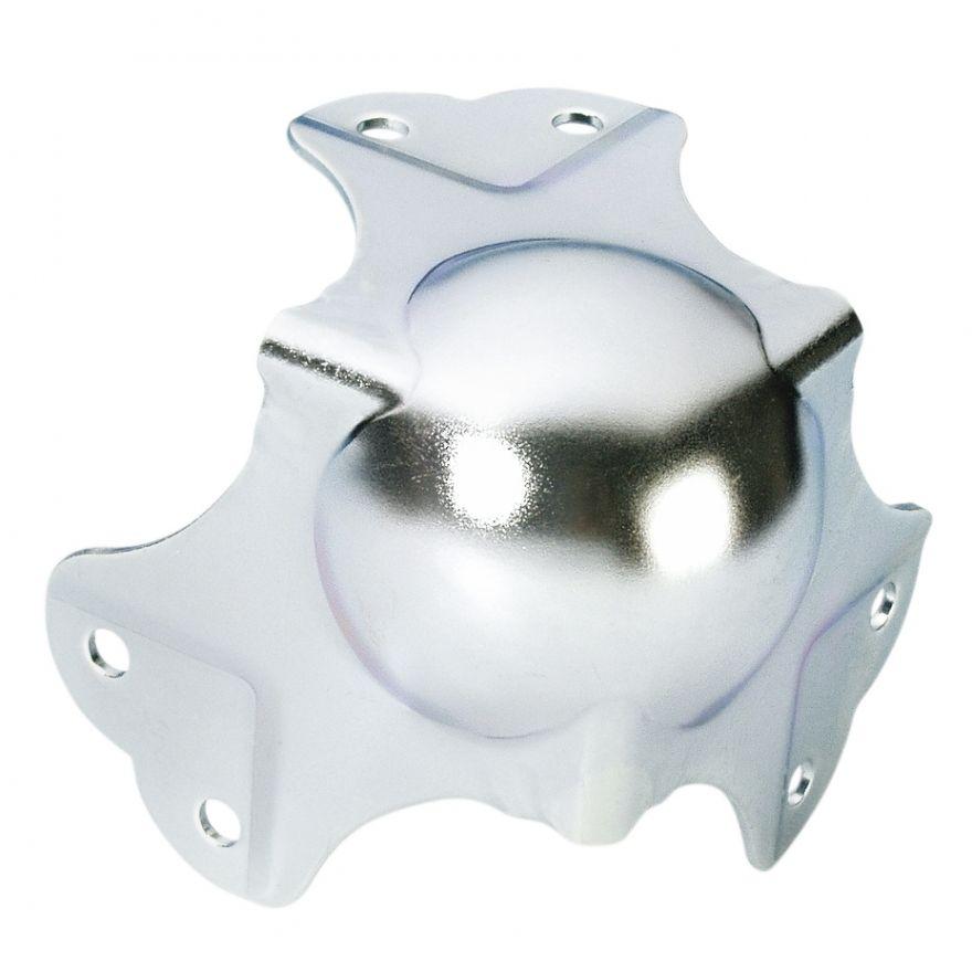 Adam Hall Hardware 41046 - Angolo Sferico grande a tre Fianchi sagomato 35 mm 6 Fori