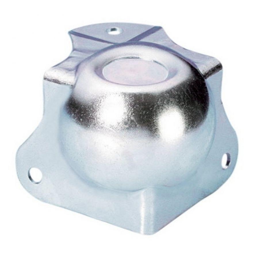 Adam Hall Hardware 41261 - Angolo Sferico medio con Angolo a L 42,5 mm integrato sagomato 30 mm con Rientranza per Impilaggio
