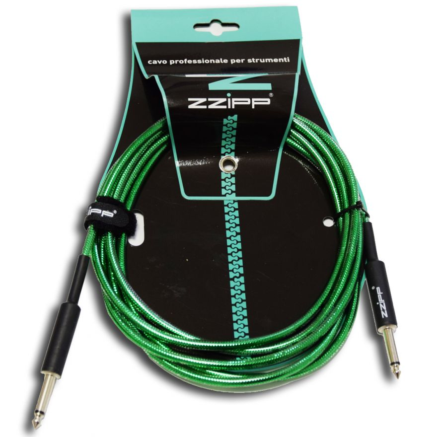 ZZIPP Cavo per Strumenti Jack/Jack 6m / verde trasparente