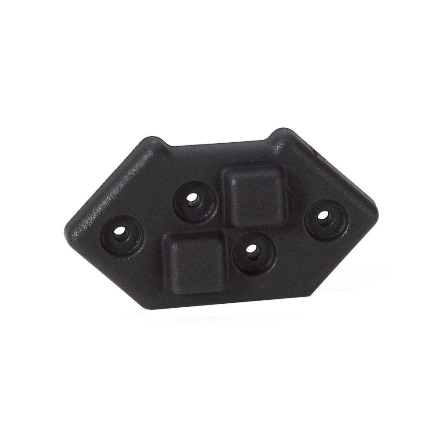 Adam Hall Hardware 4939 - Piede impilabile in plastica per Montaggio Angolare