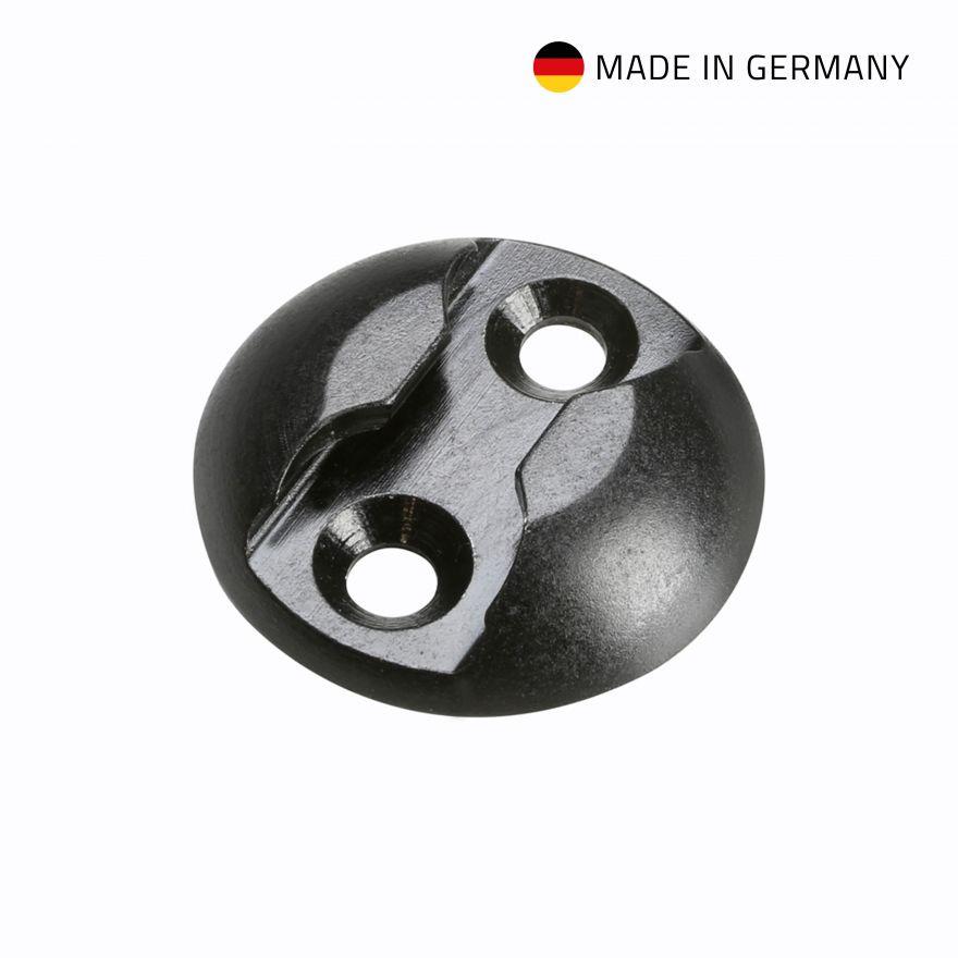 Adam Hall Hardware 5725 B - Rondella per fissaggio ad occhiello Punto di ancoraggio in alluminio, nero