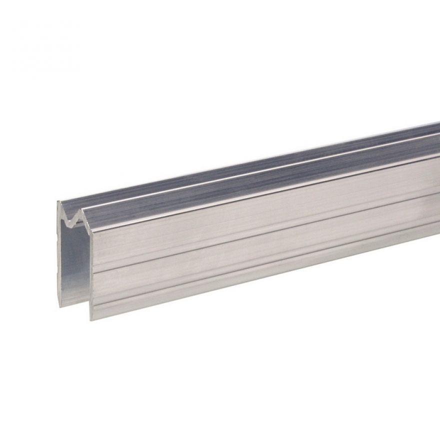 0 Adam Hall Hardware 6100 - Profilo di Chiusura ibrido di alluminio per Materiale da 13 mm