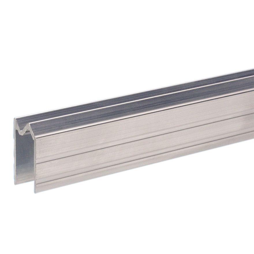 Adam Hall Hardware 6102 ALT - Profilo di Chiusura ibrido di alluminio per Materiale da 7 mm senza Smussatura
