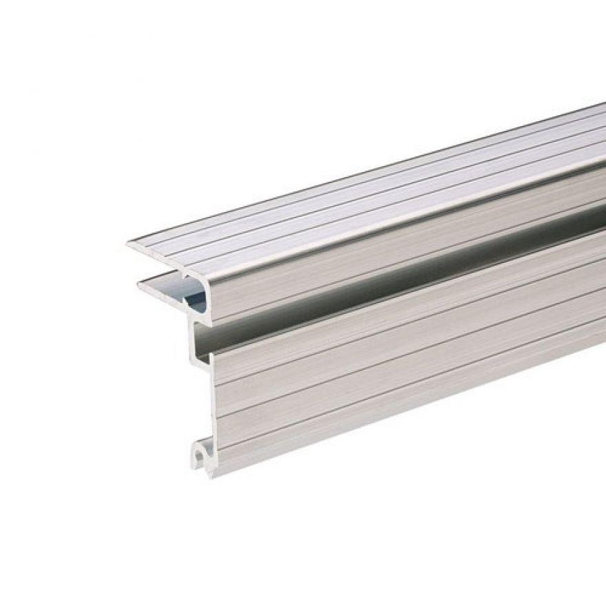 Adam Hall Hardware 6124 - Telaio per Coperchio in alluminio per Materiale da 7 mm con Scanalatura per Chiusure a Farfalla Overlatch