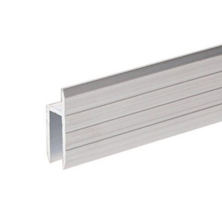 Adam Hall Hardware 6126 - Profilo ad H in alluminio per Sportelli Rack da 7 mm