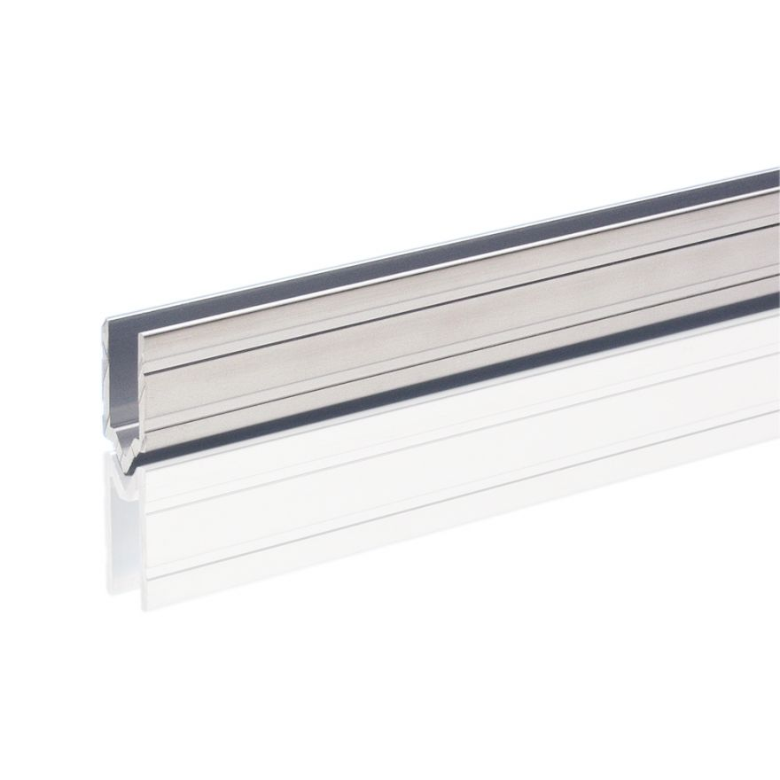 Adam Hall Hardware 6142 M - Profilo di Chiusura in alluminio maschio per Materiale da 7 mm